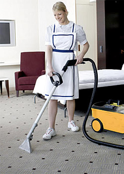 carpet hoovering